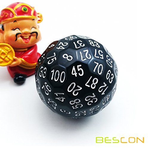Bescon Polyhedral Dice 100 Sides Dice D100 Die 100 Side Https Www Amazon Com Dp B06y2bjr2l Ref Cm Sw R Pi Dungeons And Dragons Game Dice Polyhedral Dice