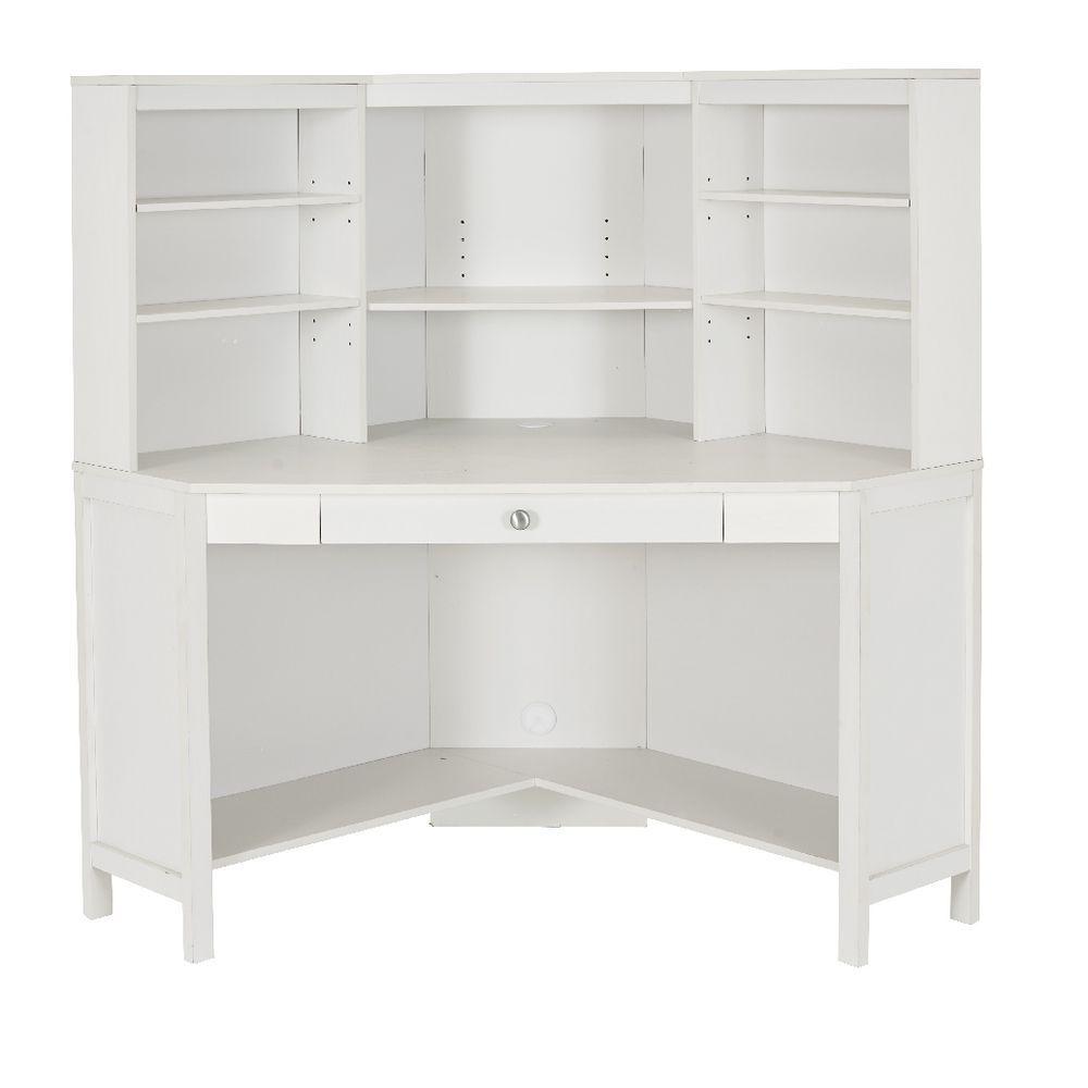 White Corner Desk with Hutch - Living Room Sets at ashley ...