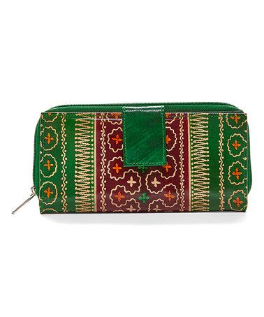 Love this Green Moroccan Hand-Painted Leather Wallet on #zulily! #zulilyfinds