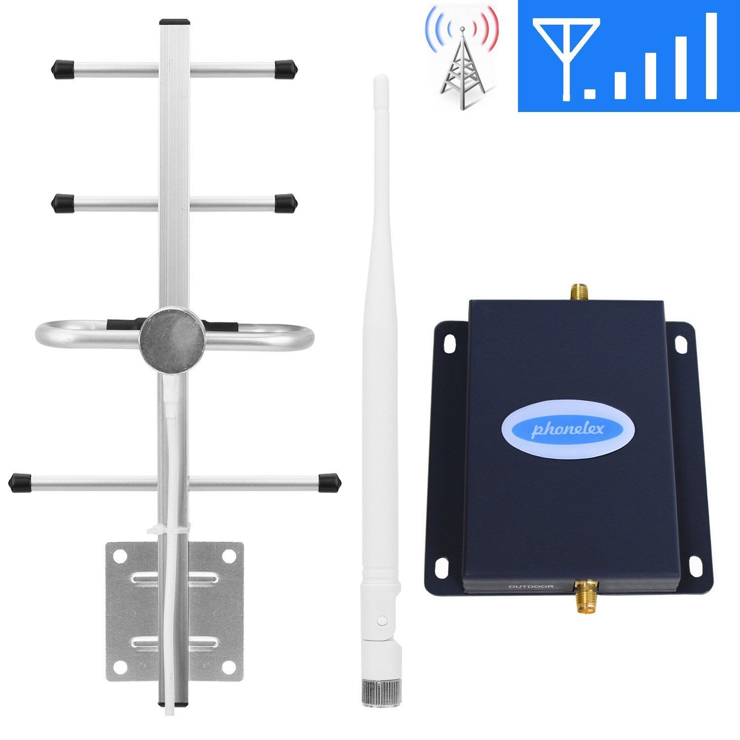 Verizon Cell Phone Signal Booster 4G LTE Band13 700Mhz Cell Signal Booster Verizon Mobile Phone Signal Booster Verizon Cell Phone Signal Amplifier Repeater SHWCELL with Whip+Yagi Antenna Kit for Home
