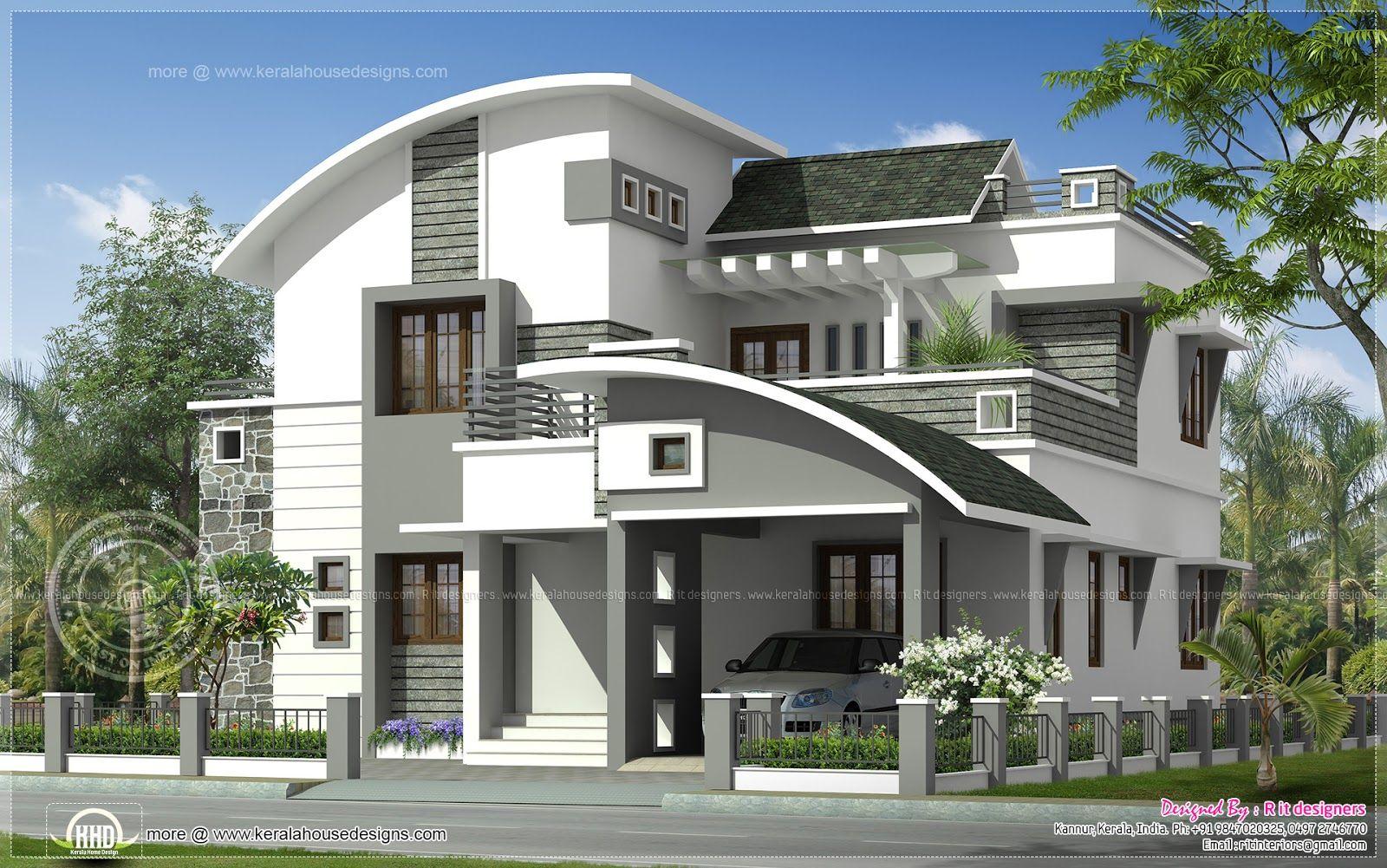 2200 Sq Ft Modern Villa Exterior Home