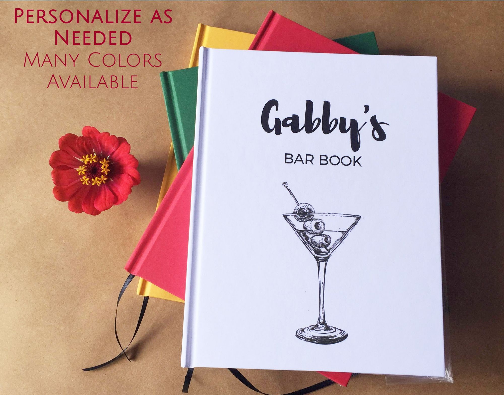 Custom Cocktail Party Recipe Book The Party Is On Your Custom Text On The Cover Love A Bartender Or Mixolog Cocktail Recipe Book Custom Cocktails Book Gifts