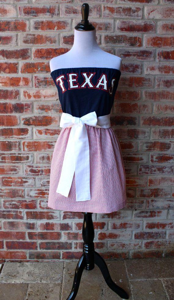Texas Rangers Baseball Strapless Game Day Dress Size Small Gameday Dress Texas Rangers Apparel Texas Rangers Baseball
