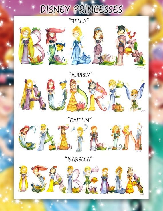 Disney Princess Name Painting Name Art Letter Art Name