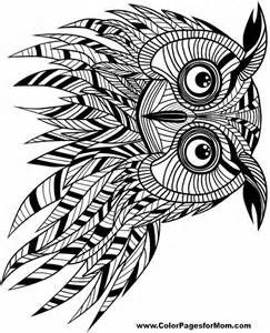 Free Printable Adult Coloring Pages - Owl Coloring Pages | Curio ...