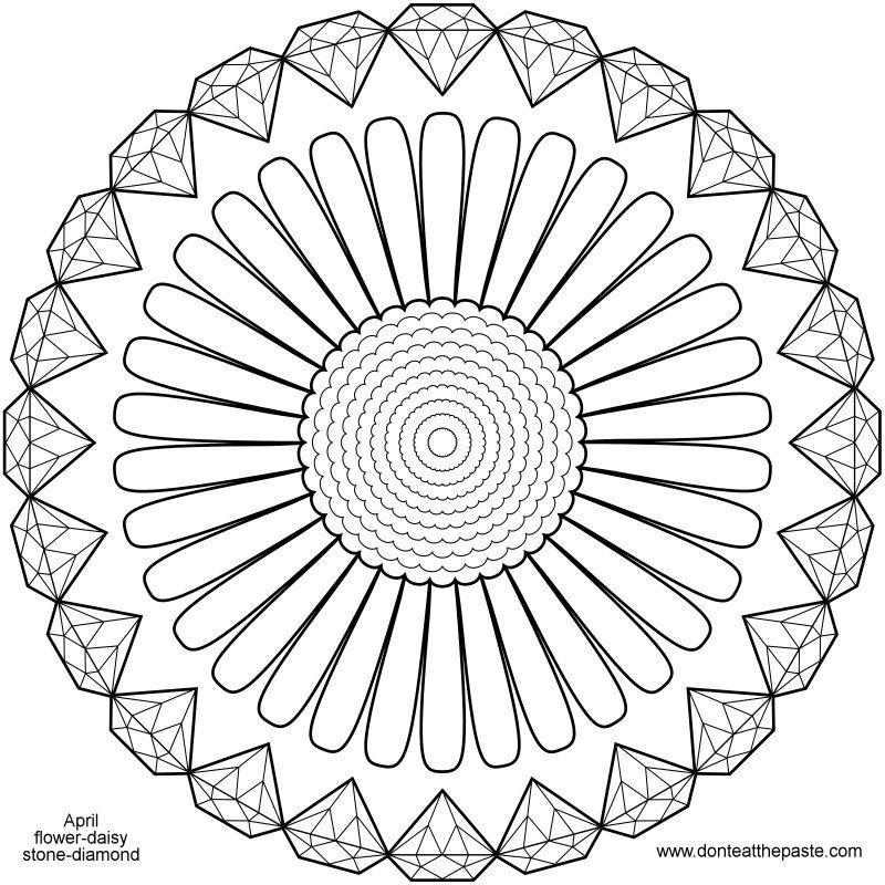 10++ Diamond coloring pages for adults info