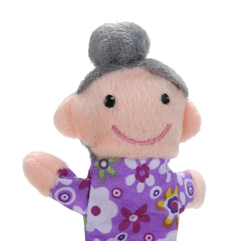 6 stks/partij kerst mini pluche baby speelgoed familie vingerpoppetjes set jongens meisjes vingerpoppetjes