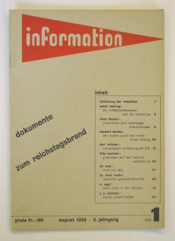 Max Bill, Information (Zuric, 1932-1933)