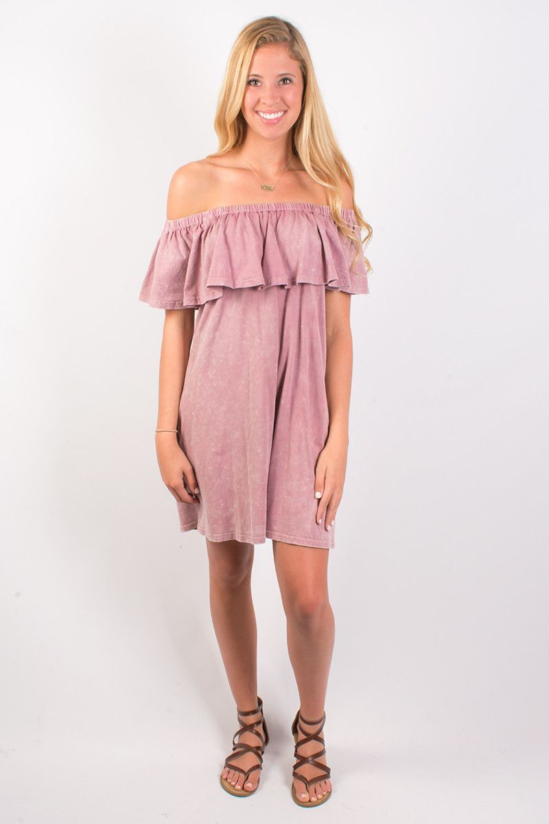 Umgee chasing blooms off the shoulder dress mauve mauve and products