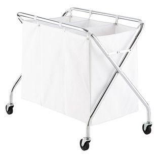 Heavy Duty 3 Bin Rolling Laundry Sorter With Wheels