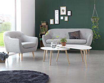 Sofabord LEJRE hvit/eik | JYSK large one 900,- | Living room ...