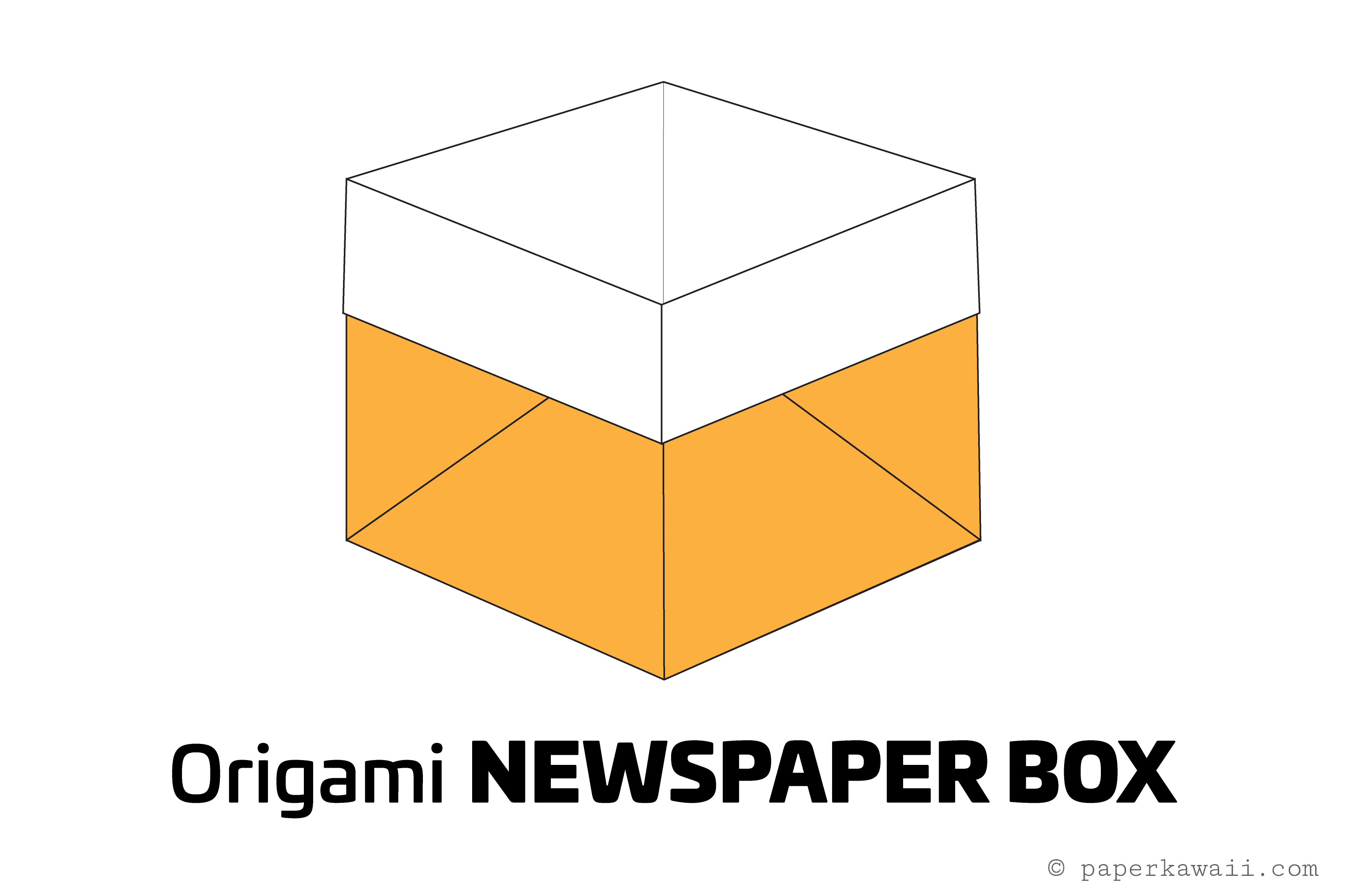 Easy Origami Newspaper Box Tutorial Easy Origami Origami And