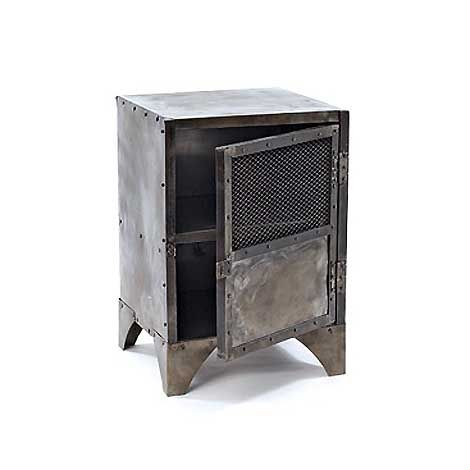Industrial Metal Locker End Table  Industrial metal Metals and