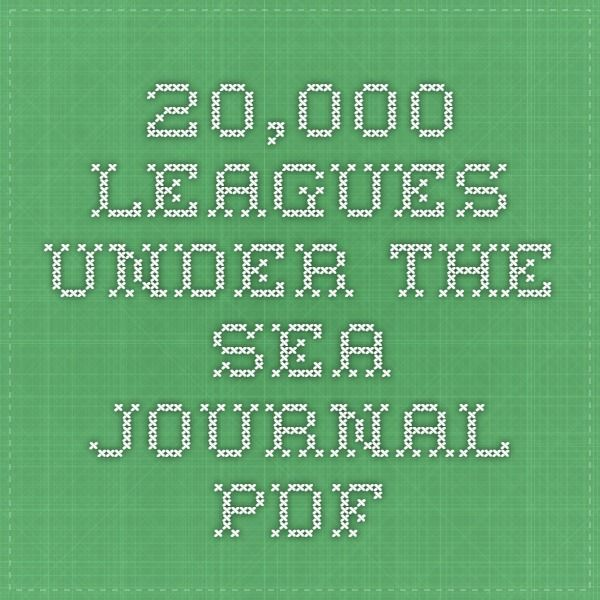 20,000 Leagues Under the Sea Journal PDF/ comprehension questions ...