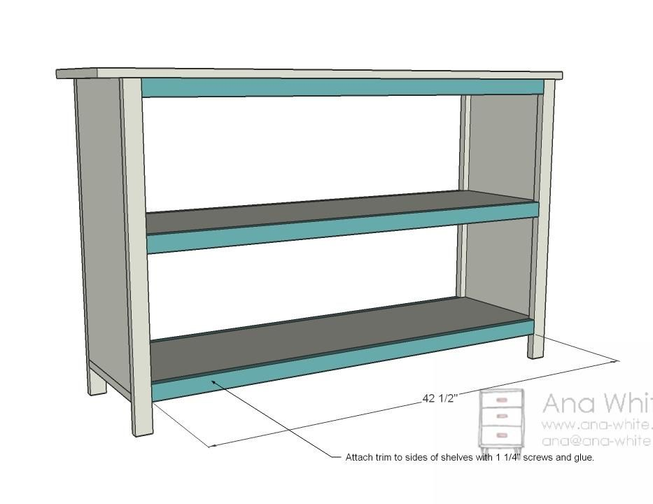 Ana White Build A Grace S Bookshelves Plans For Two Free And
