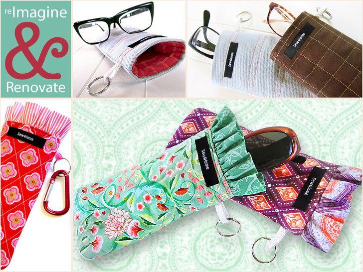 0d8049abcf Fundas para gafas   DIY accesorios   Manualidades, Costura y Estuche ...