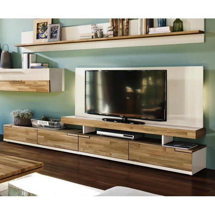 meuble tv moderne en bois massif