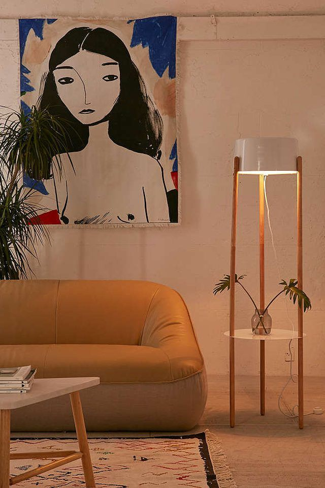 10 Floor Lamps That Also Have Shelving Floor Lamp With