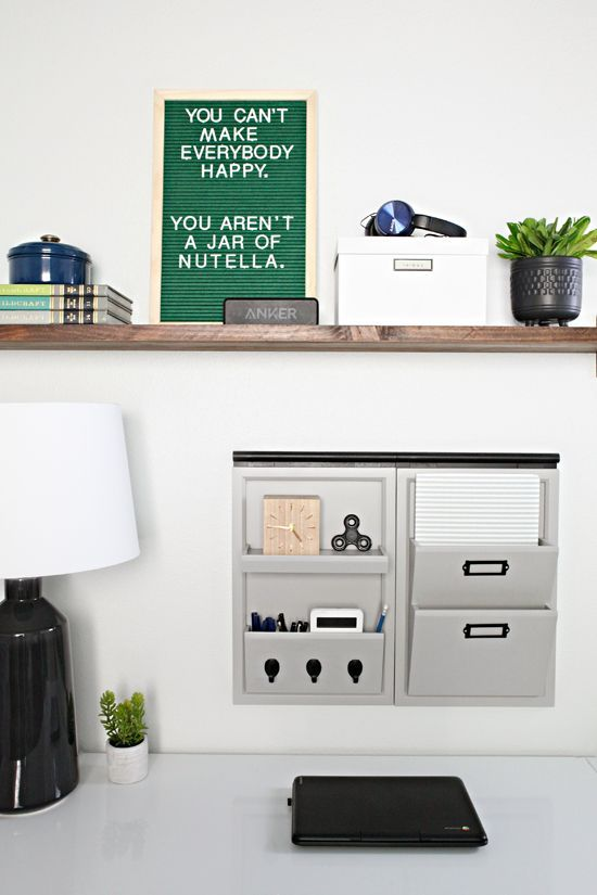 Teen Boy Bedroom Workspace  DIY Shelf Why is it that the middle of