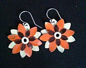 recycled aluminum can earrings by megankleindesigns