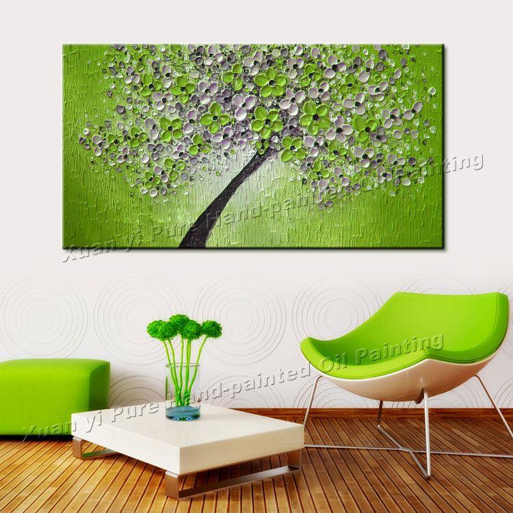 Peint à La main Peintures À Lu0027huile Du0027orchidée Fleur Blanche Couteau - peinture blanche pour mur