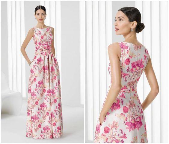 Vestidos de fiesta largos floreados 2017