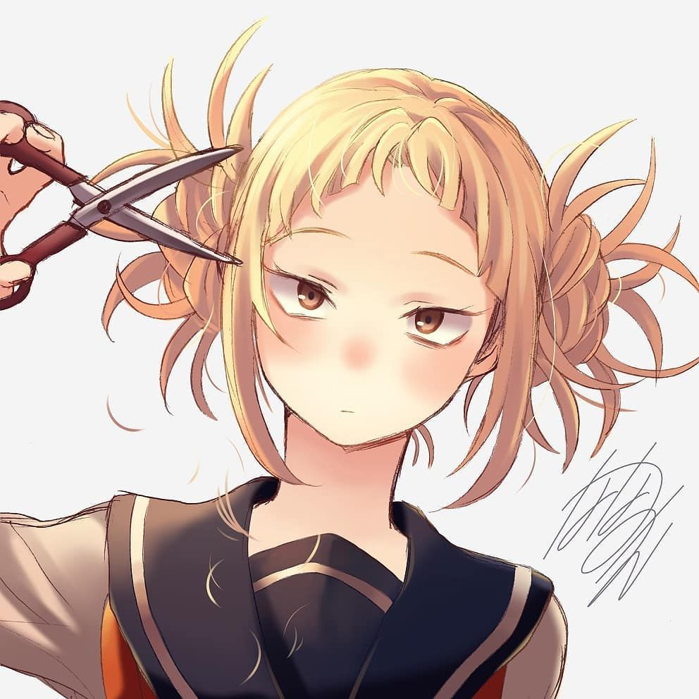 Bangs Bangs Bangs I Look Weird Without Bangs She Mumbled To Herself Over And Over Credit To Artist Himikotoga Togahimiko Toga Hero Anime