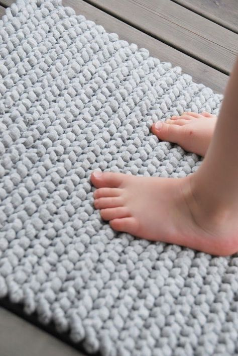 Simple Rug With Zpagetti Yarn Craft Ideas Pinterest Häkeln