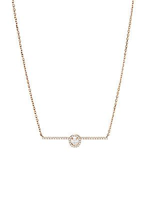 037fa550defc53 Messika Glam'Azone Diamond & 18K Pink Gold Pendant Necklace - Rose ...