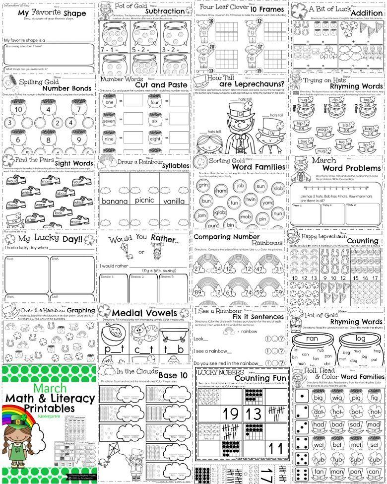 March Kindergarten Worksheets | Kindergarten worksheets ...