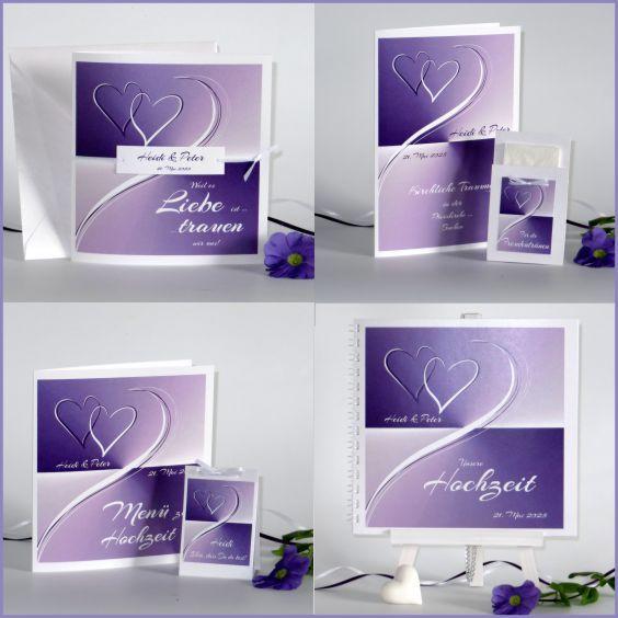 Hochzeitskarten Und Mehr In Intensivem Violett Modern Und