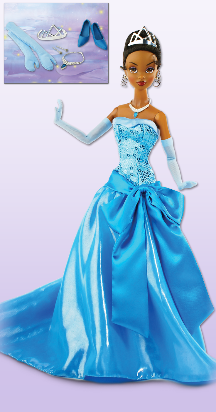 Disney Princess Tiana in Blue Ball Gown NEW