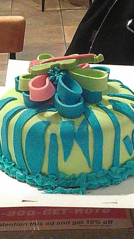 Neon zebra cake Cakes Pinterest Neon Zebras and Cakes