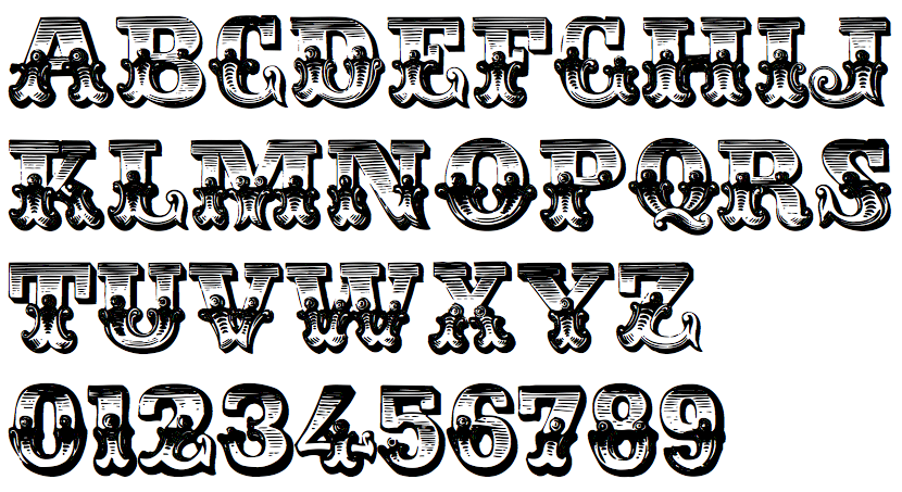 Victorian lettering styles few free fonts ornamental