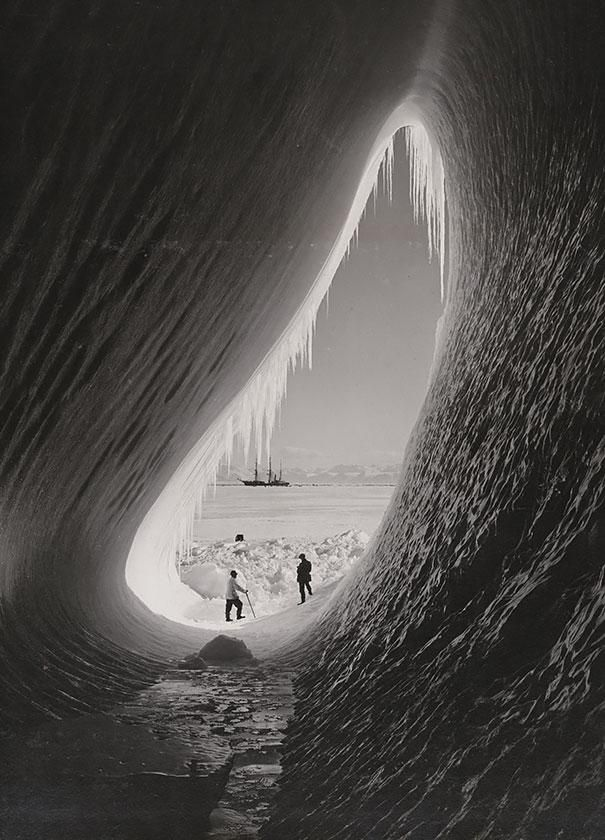 A grotto in an Iceberg, Photographed During The British Antarctic Expedition, 5 Jan 1911.