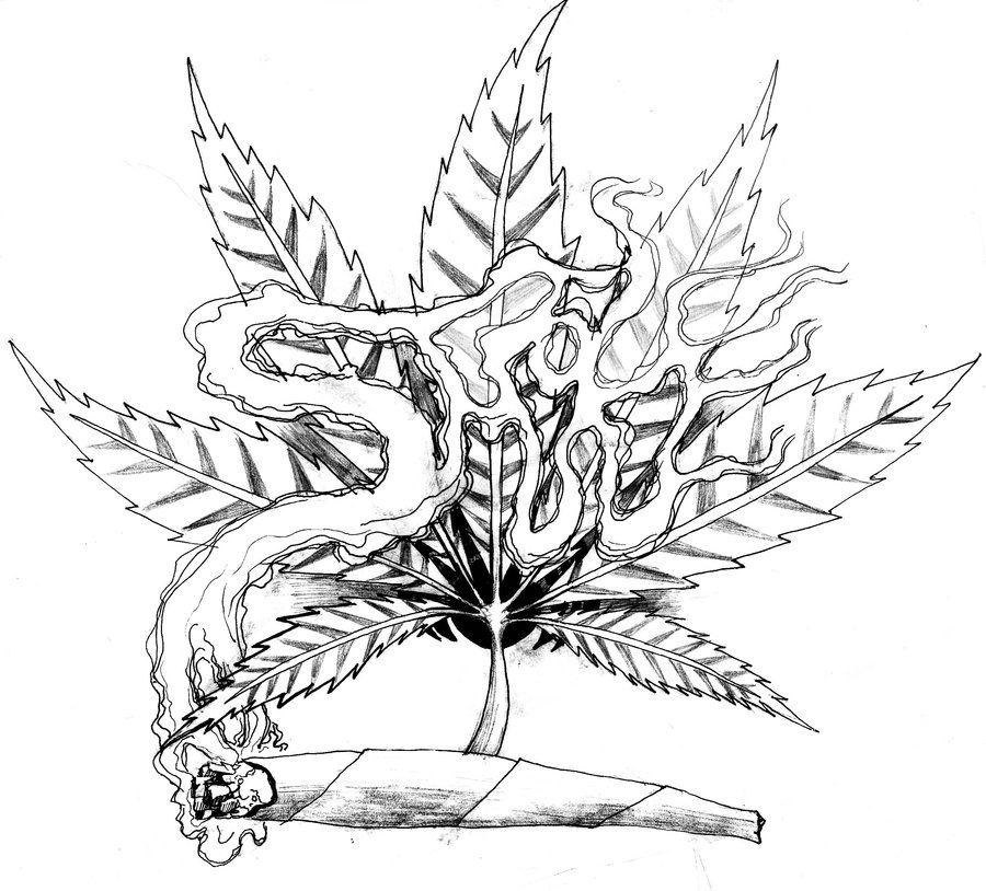 Weed Tattoo Art Similar Deviations Projects To Try Trippy Pot Leaf Coloring Pages