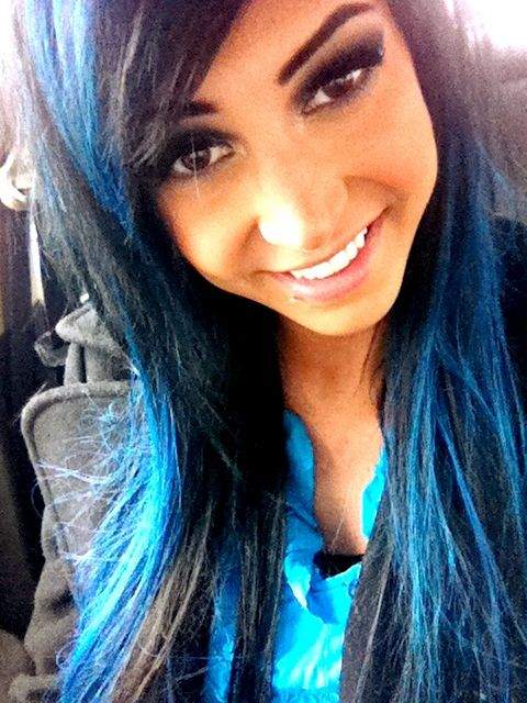 Bright Blue And Black Hair Color Using Ion Brilliance Brights In