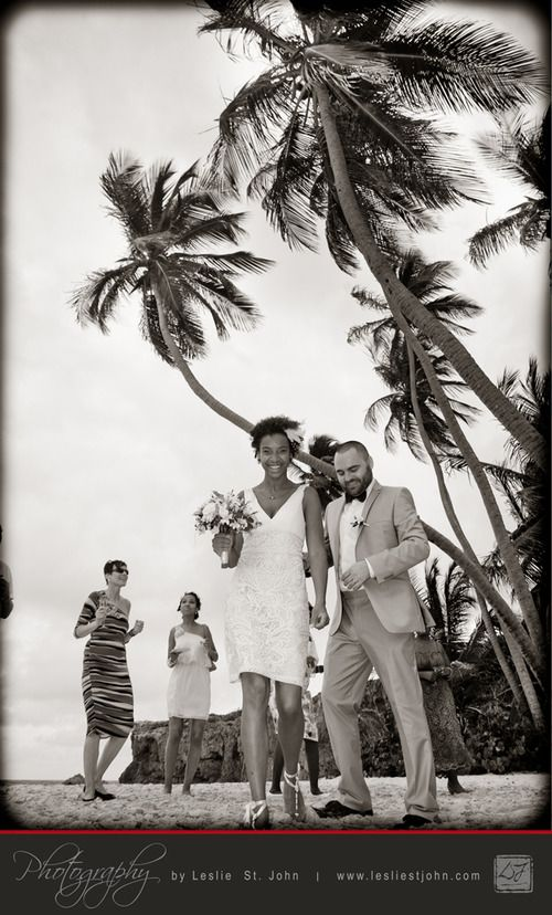 Partying Under the Coconut Trees... - Photography By Leslie St. John    After the formalities were completed, Vanessa and Laurin partied with their guests under the coconut trees.   www.lesliestjohn.com