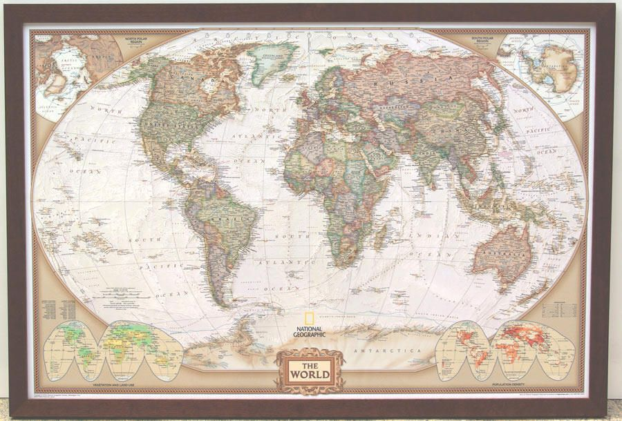 14 best World Maps images on Pinterest  World maps Framed maps