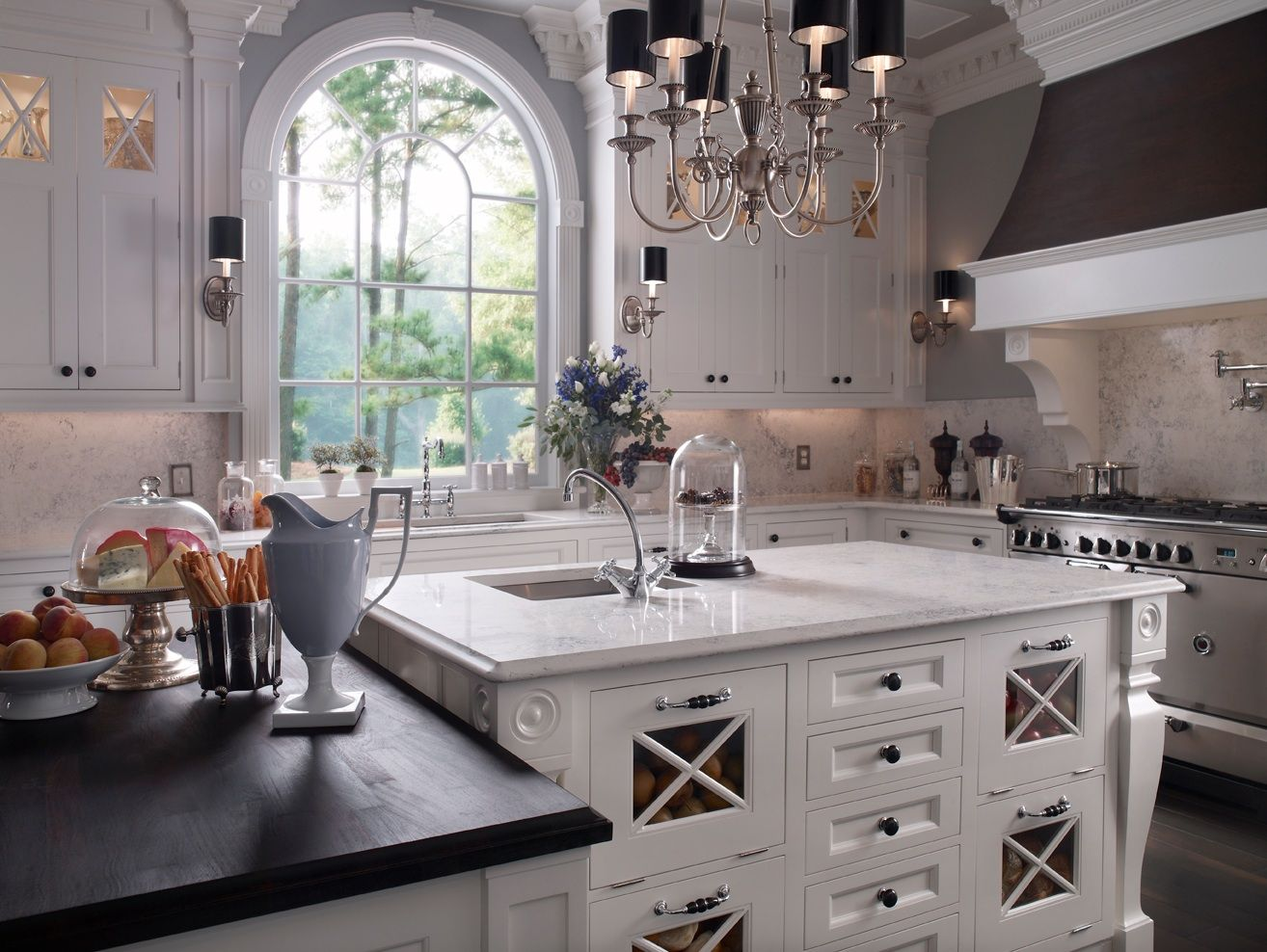 Wood Mode White Beautiful Kitchen