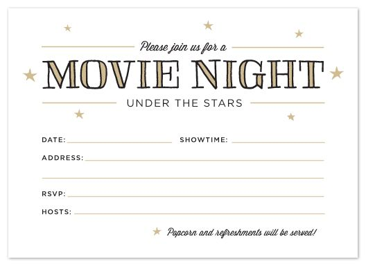 FIG COTTON Printable Outdoor Movie Night Invitations – Movie Night Invitations Free Printable