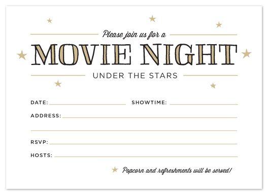 FIG COTTON Printable Outdoor Movie Night Invitations – Movie Night Invitations Free Printable