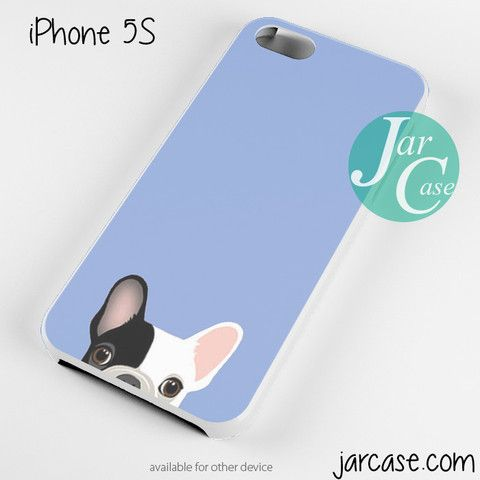 newest c1fcc d7b6a Cute French Bulldog Light Blue Phone case for iPhone 4/4s/5 ...