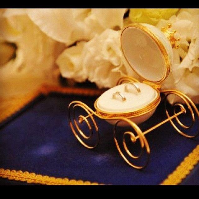 Disney Carriage Ring Holder Disney Wedding Inspiration