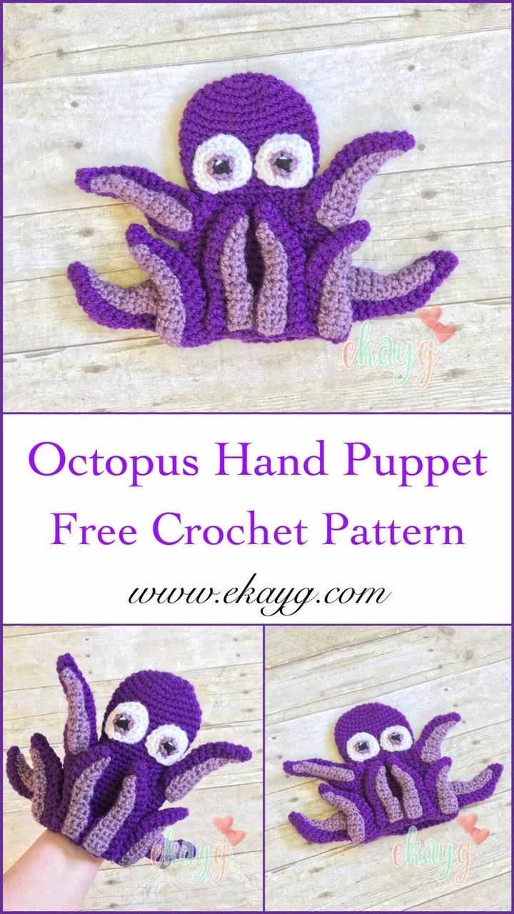 Octopus Hand Puppet #handpuppets