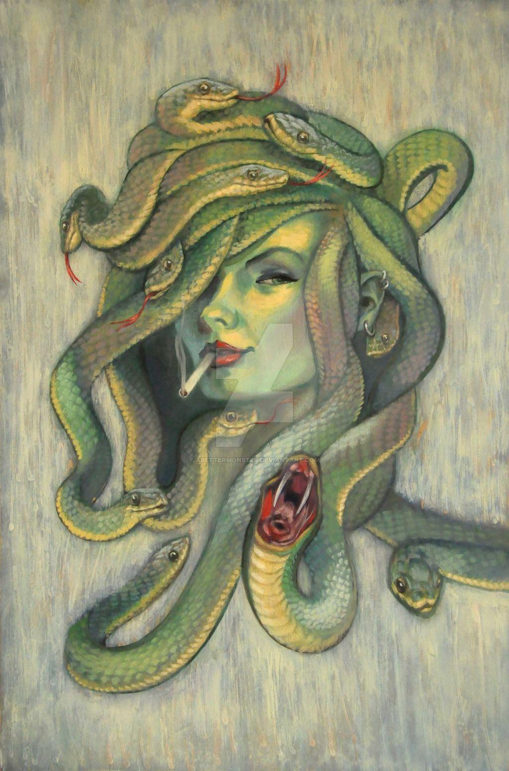 Épinglé par Justin Gonzales sur Xade art | Gorgone méduse ...
