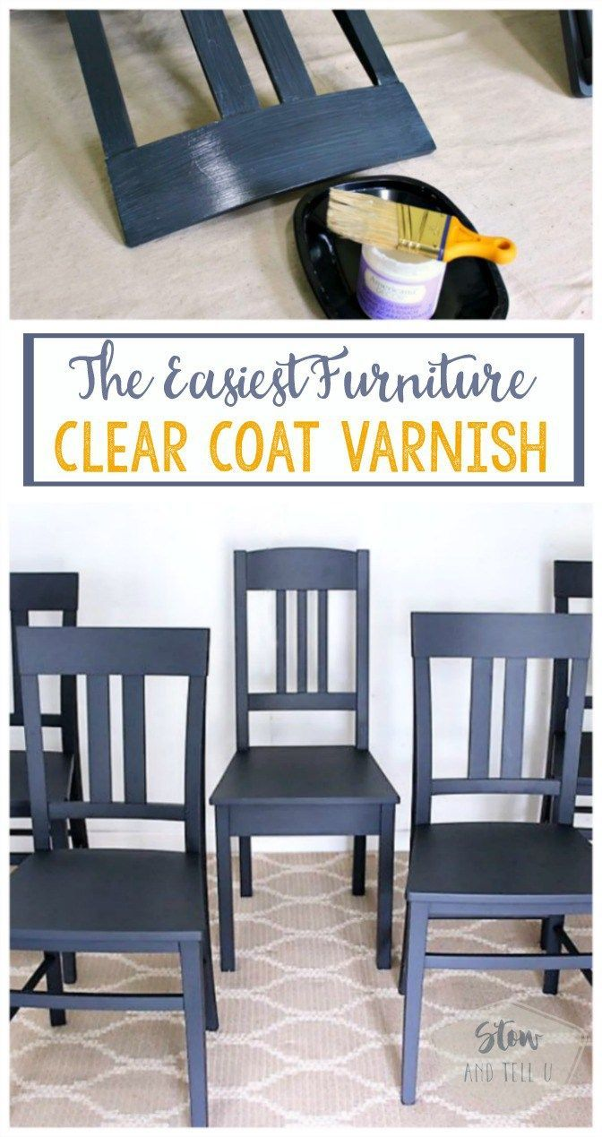 The Easiest Furniture Clear Coat Varnish | Top Coat Sealer For Painted  Furniture, Crafts Home