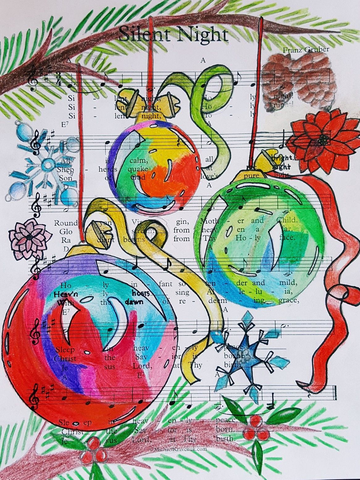 Christmas Bulb Colored Pencil 6th Grade G H With Images