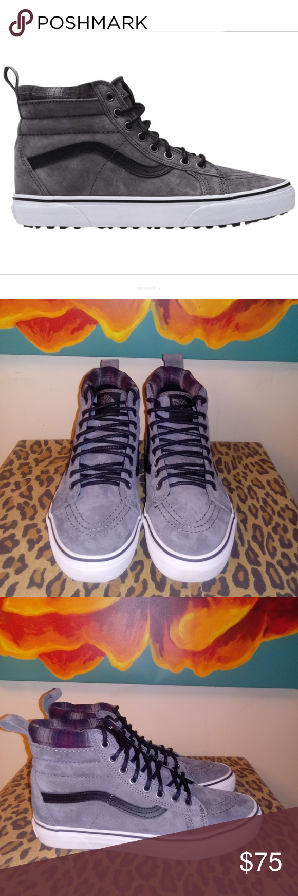 ee6a4fedcaab VANS Sk8-Hi MTE Pewter Plaid Skateboard Shoes BRAND NEW CONDITION! Very  nice gray