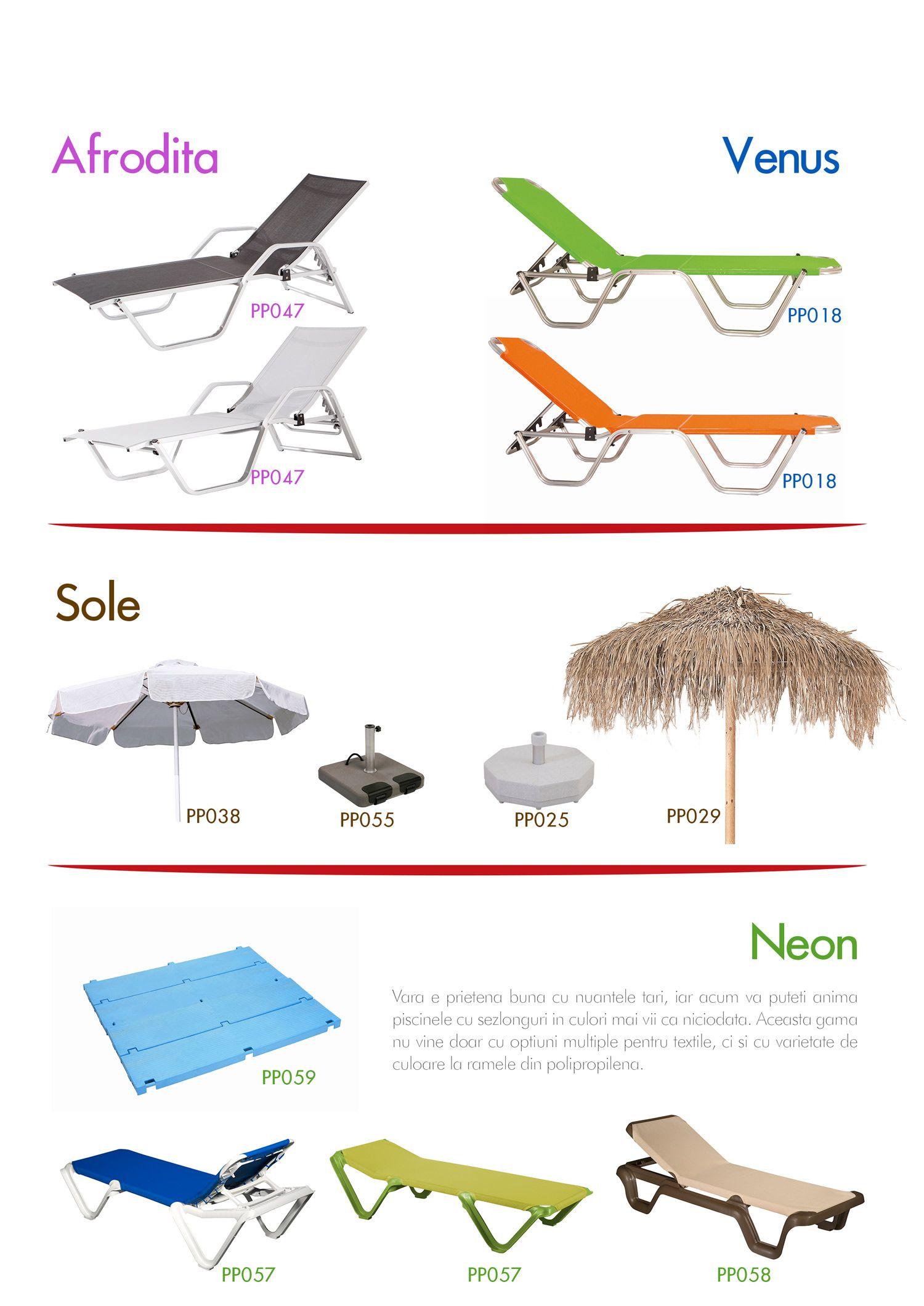 Mobilier Chairry pentru plaje și terase.